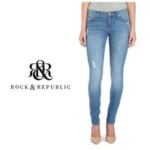Rock & Republic Jeans Distressed Skinny Sz 8 NWT